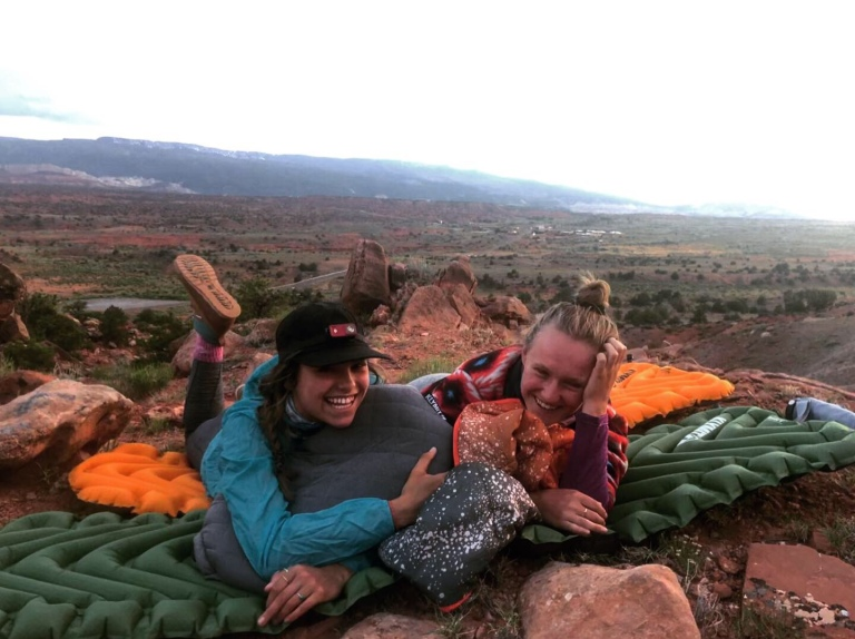 camping with friends in the summer in southern utah