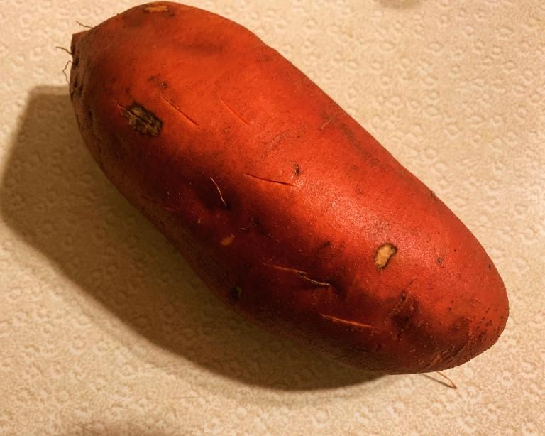 raw sweet potato