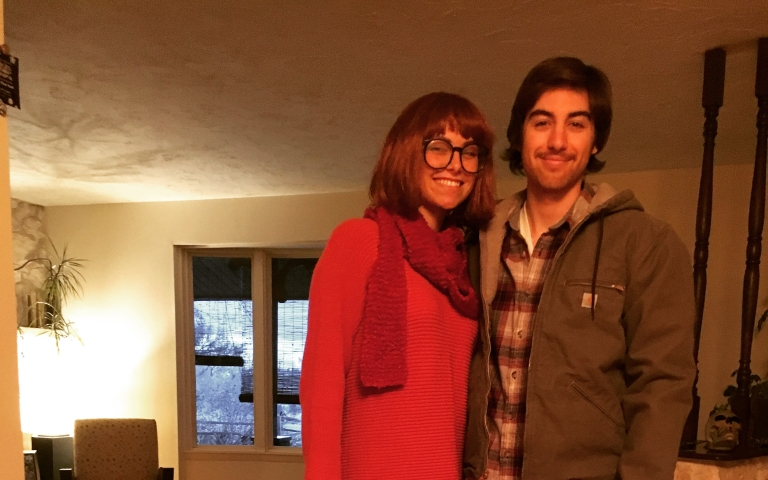Velma and Sam from the Scooby-Doo/Supernatural cross over episode