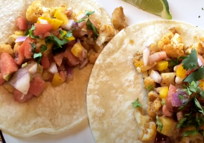 Cauliflower Tacos with Rainbow Salsa