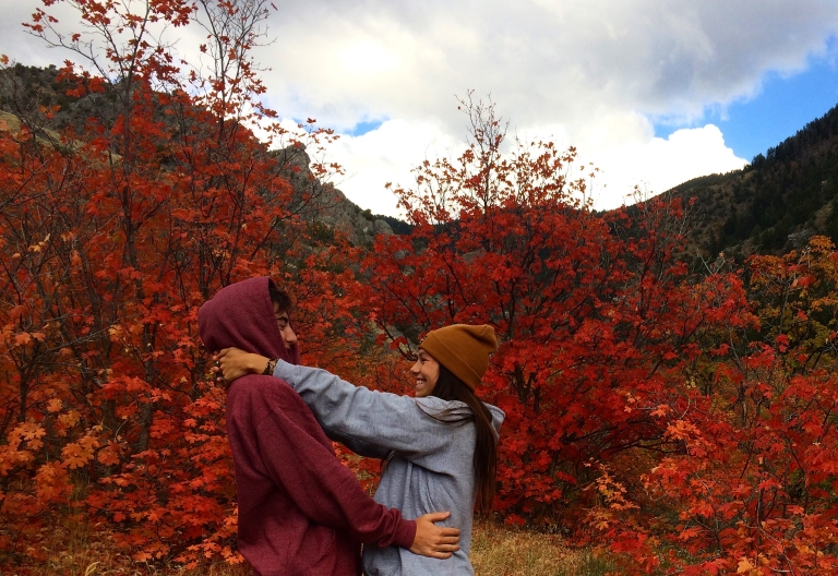 Nic and I on a fall hike up green canyon