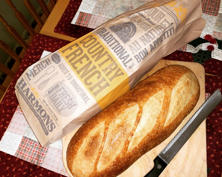 turning old french bread into stuffing