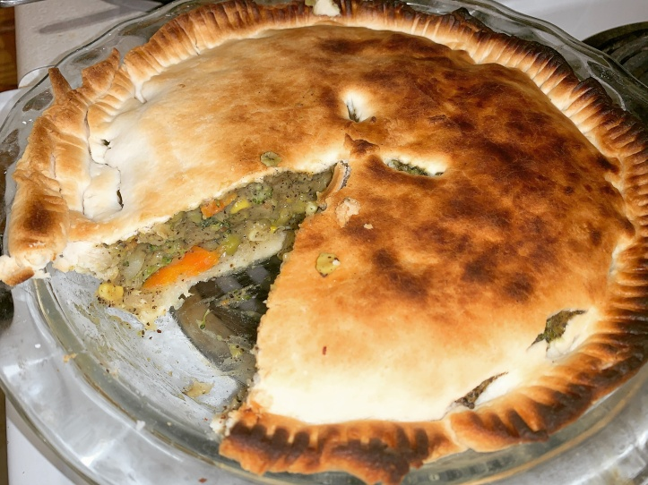crispy vegan pot pie