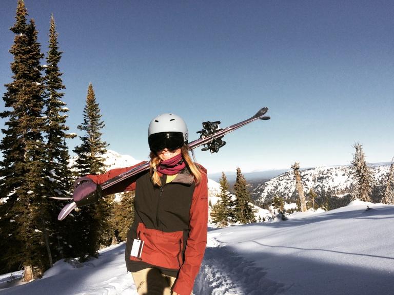 ski pass on skier