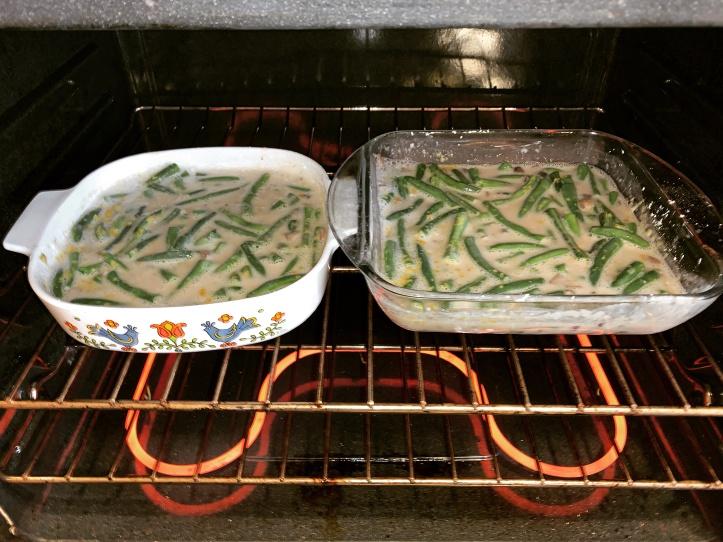 cooking vegan green bean casserole