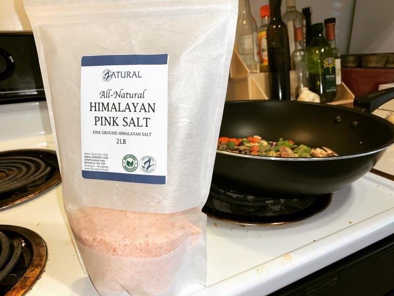 zatural pink Himalayan sea salt in vegan stuffing