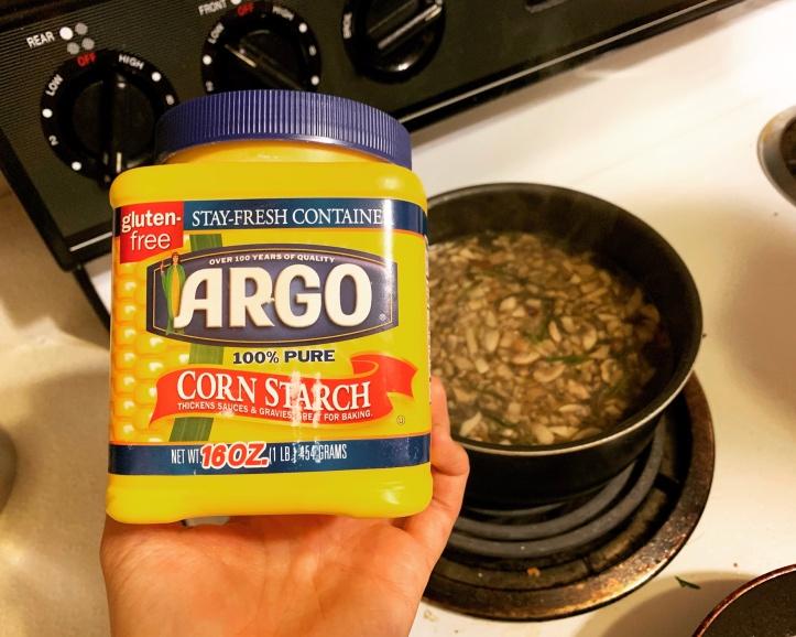 Corn starch in vegan gravy