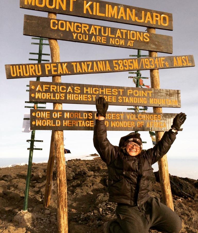 alli stassel at kilimanjaro