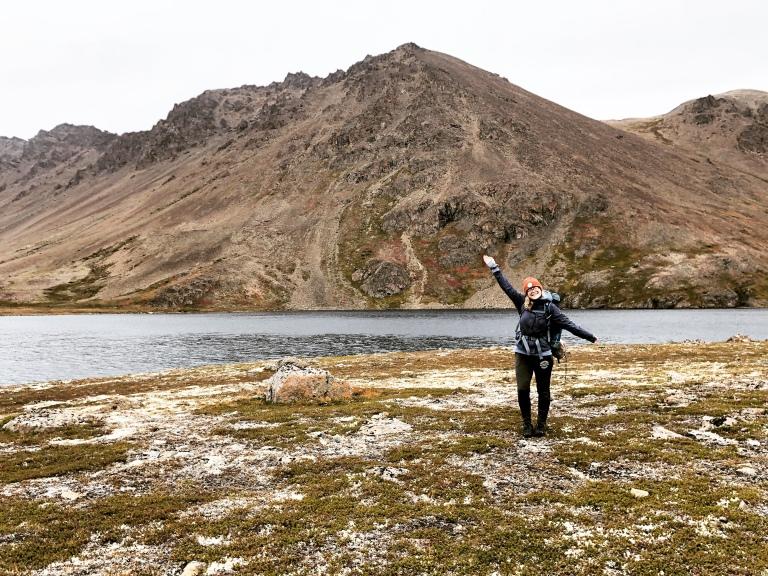 alli stassel camping and hiking in alaska
