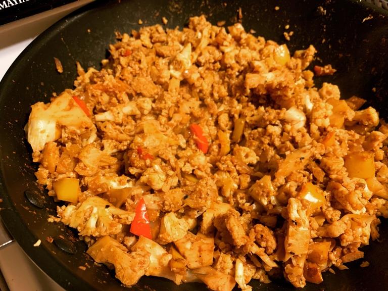 Cauliflower meat for double decker vegan cauliflower tacos