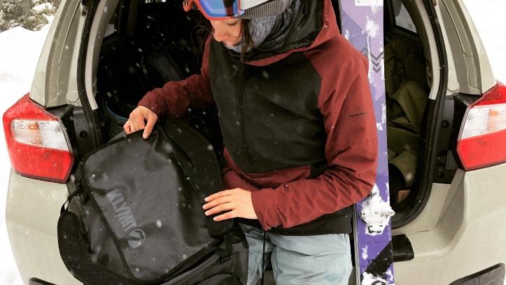 klymit gear duffel 65 liters for skiing