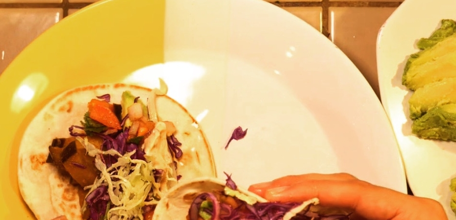 eggplant tacos assembled