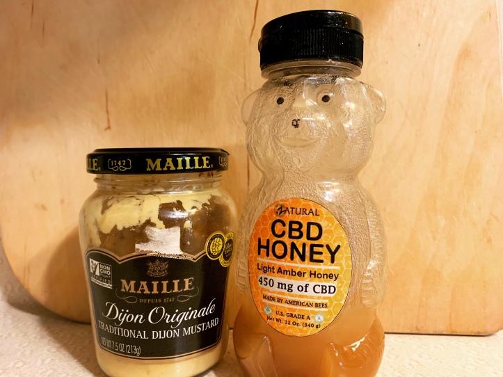 Zatural CBD honey and Dijon mustard