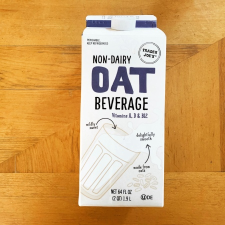 oat milk from trader joes