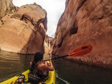 Kayaking in Antelope Canyon