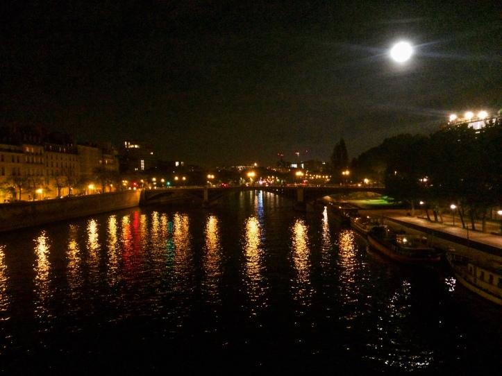 Paris lights on the Seine River