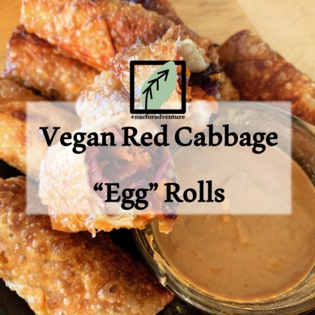 "vegan red cabbage ""egg"" rolls from nacforadventure"