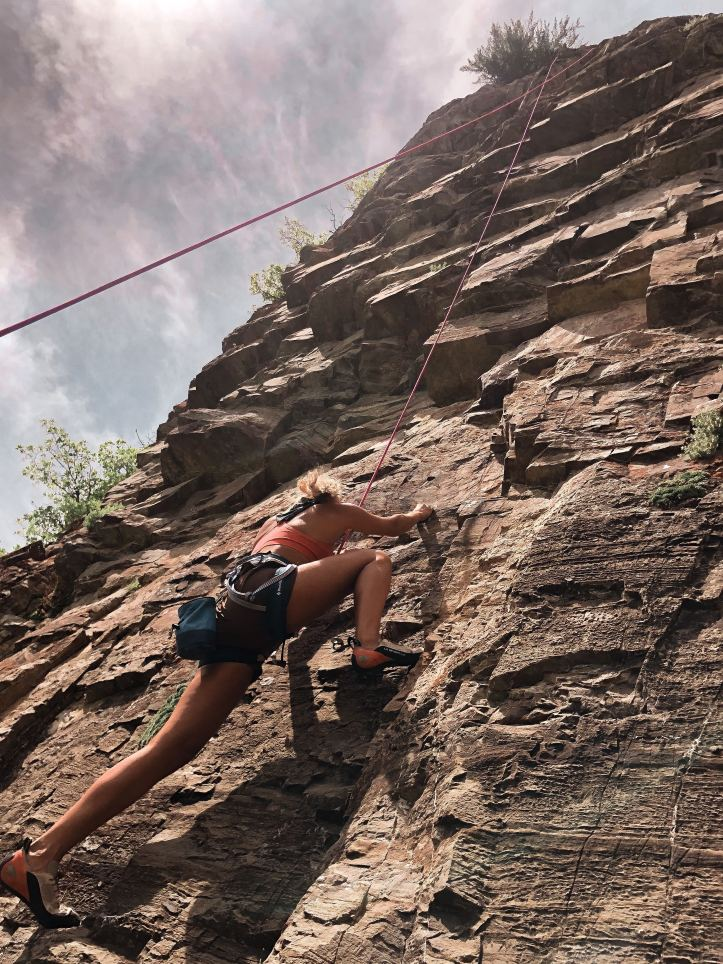 secondhand items and new items used for climbing outdoors