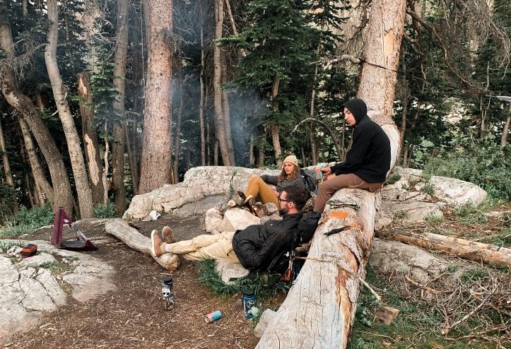 primitive campsite at Ruth lake