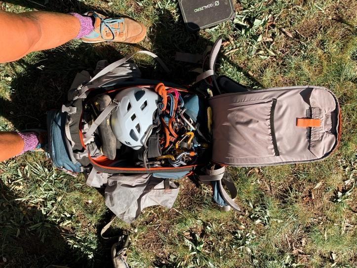 climbing gear for Ruth Lake