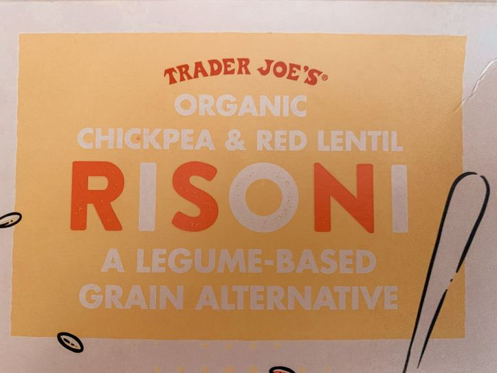 trader joe's chickpea gluten-free vegan risoni orzo for vegan greek orzo salad