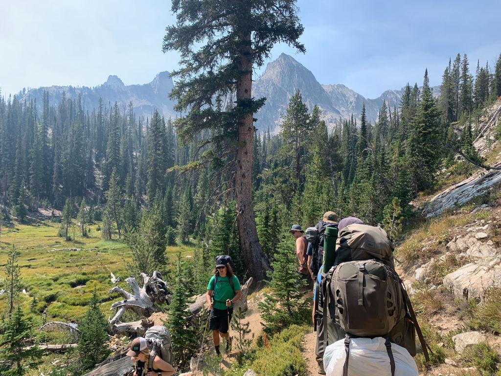 HIking down to Alice Lake on the Toxaway/Alice Lake backpacking trail