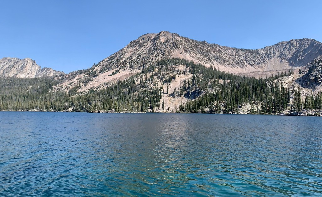 toxaway lake in the Sawtooths