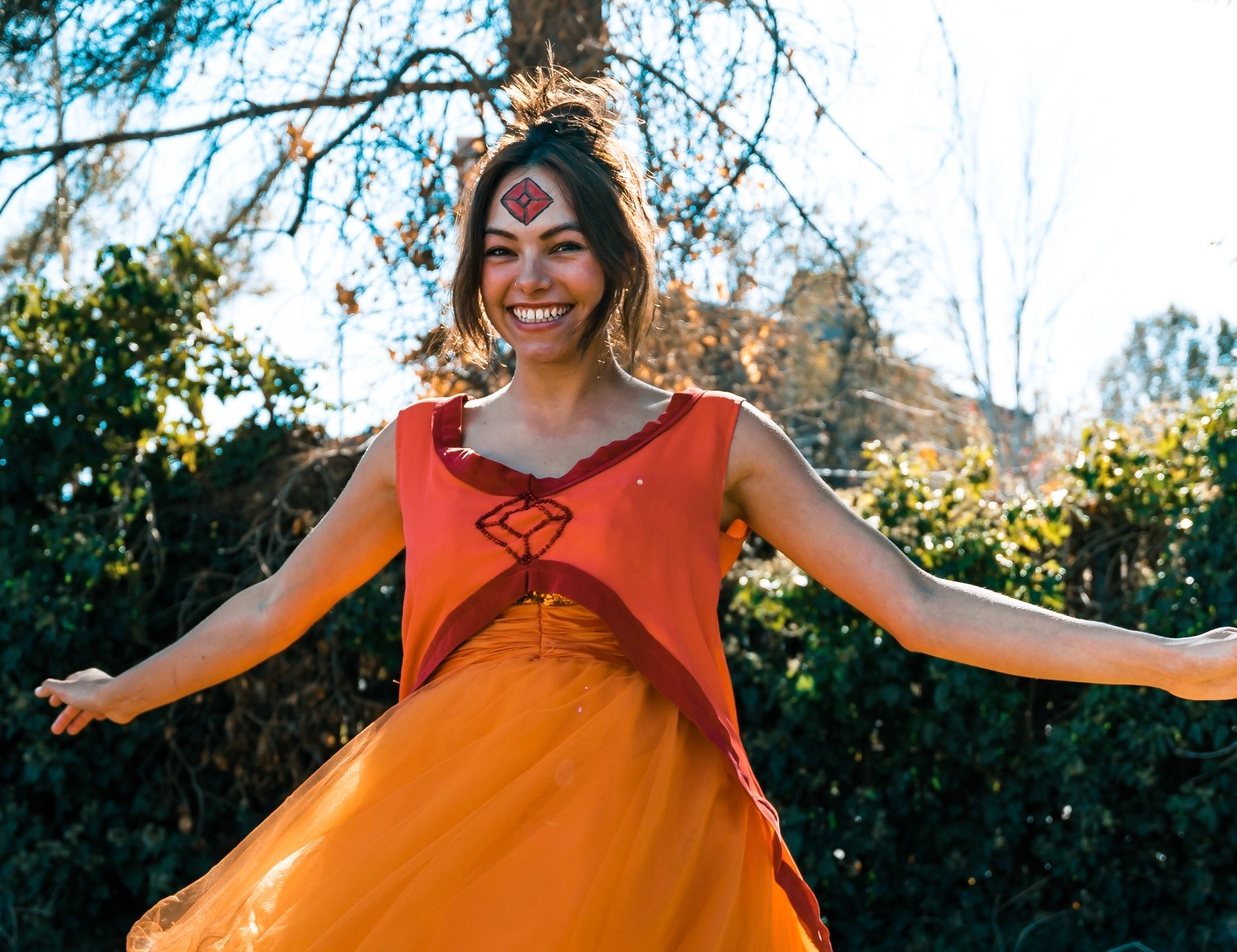 flame princess costumer/cosplay for halloween