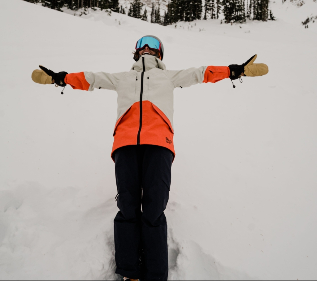 falling back into snow - alta, utah