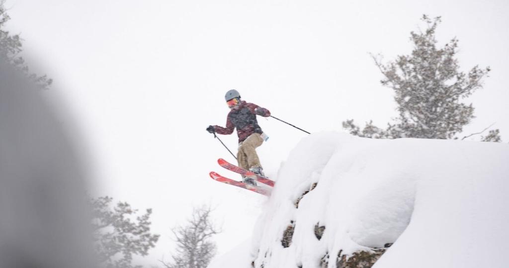 skiing at Powder Mountain, UT
