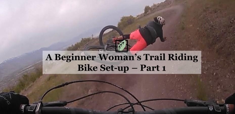 Beginner woman's trail riding mountain bike set up