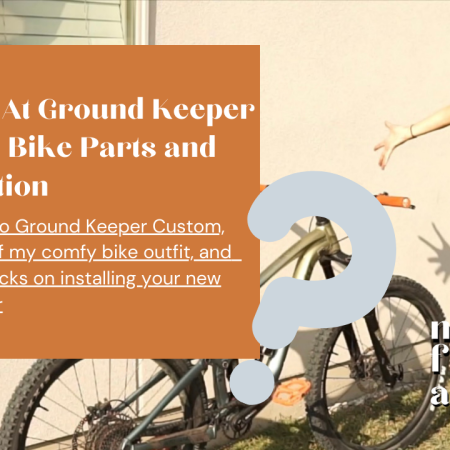 Ground Keeper Custom & Installation Of A Top Cap, Fender, Frame Protector & Water Bottle Cage