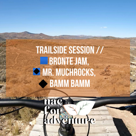 YouTube Video: Trailside Session at Park City Utah trail system // Bronte Jam, Mr. Muchrocks, Bamm Bamm